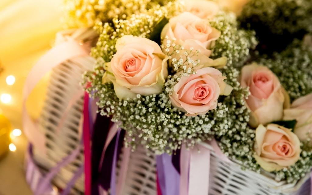 Photo d'un bouquet de fleurs lors d'un mariage en Guadeloupe