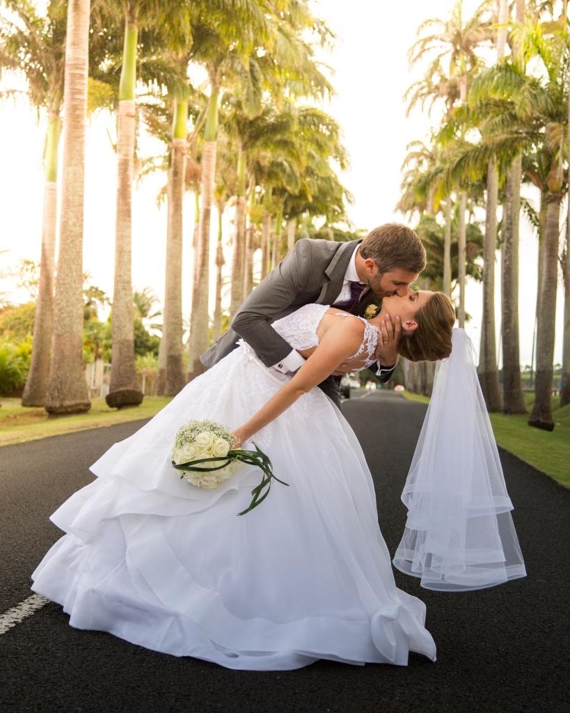 Photo de couple lors du mariage de Julie et Pierre en Guadeloupe