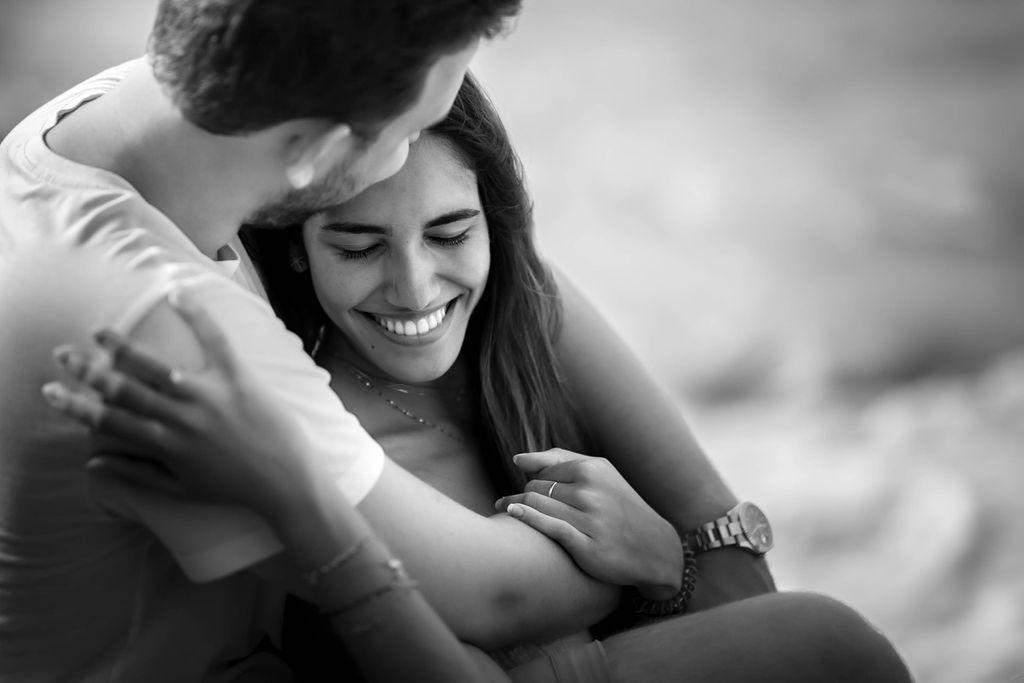 photo d'amoureux à la plage
